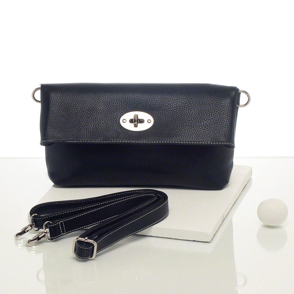 Kris-ana black hand or shoulder clutch complete with tote