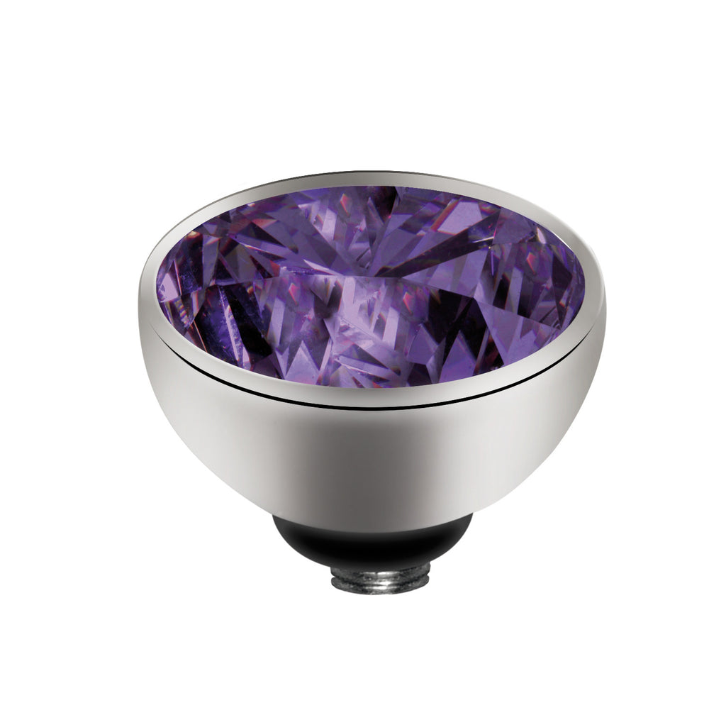 MelanO purple/ss interchangeable 8mm gem - Ellimonelli