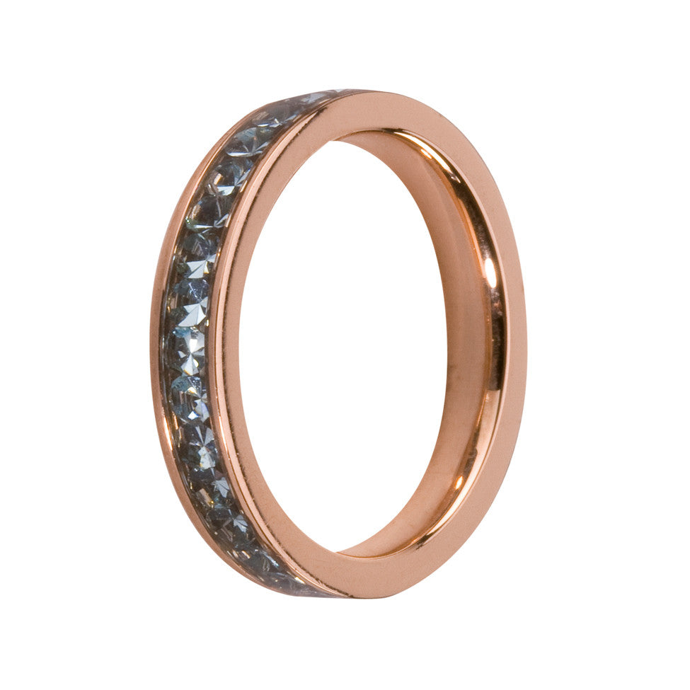 MelanO aqua/rose gold lined jewel ring - Ellimonelli