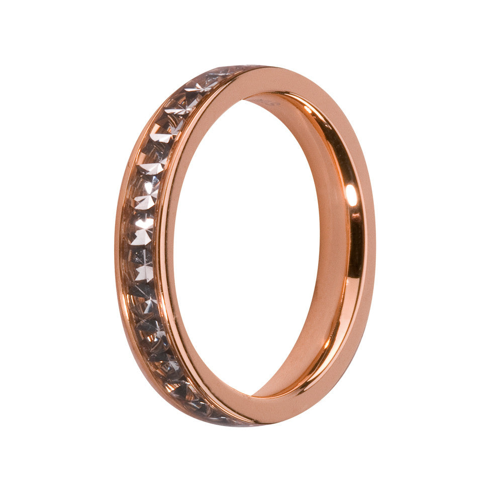 MelanO black diamond/rose gold lined jewel ring - Ellimonelli