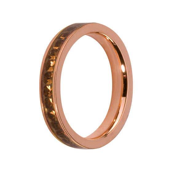 MelanO coffee/rose gold lined jewel ring - Ellimonelli
