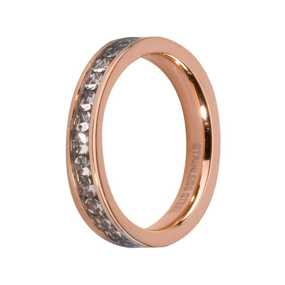 MelanO crystal/rose gold lined jewel ring - Ellimonelli