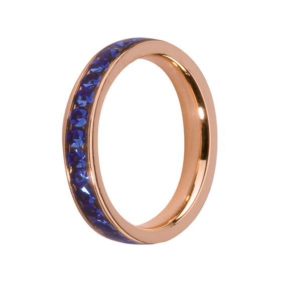 MelanO sapphire/rose gold lined jewel ring - Ellimonelli