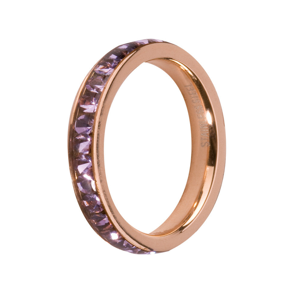MelanO violet/rose gold lined jewel ring - Ellimonelli