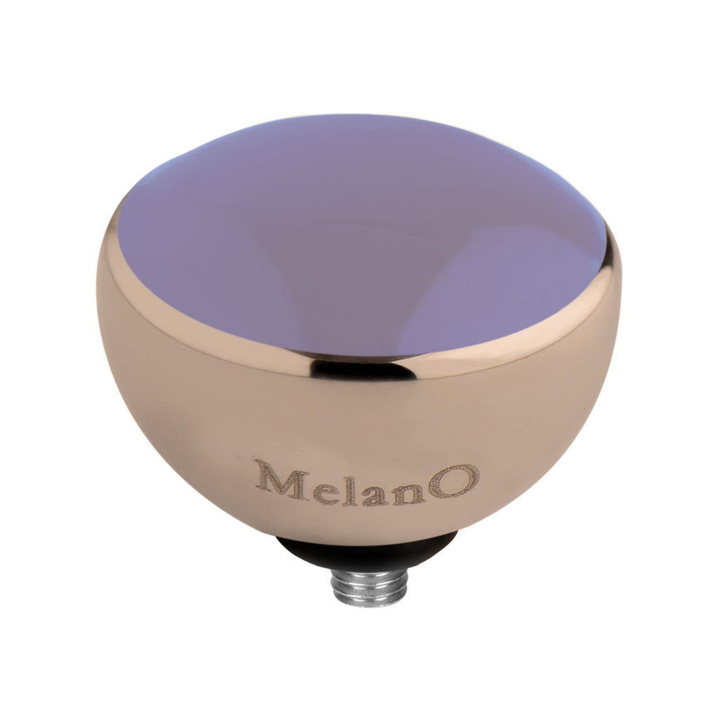 MelanO lavender resin/rg interchangeable 8mm gem - Ellimonelli