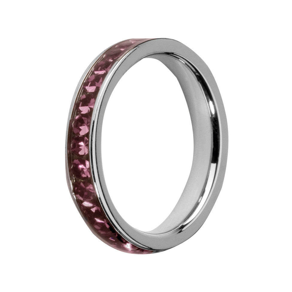 MelanO amethyst/stainless steel lined jewel ring - Ellimonelli