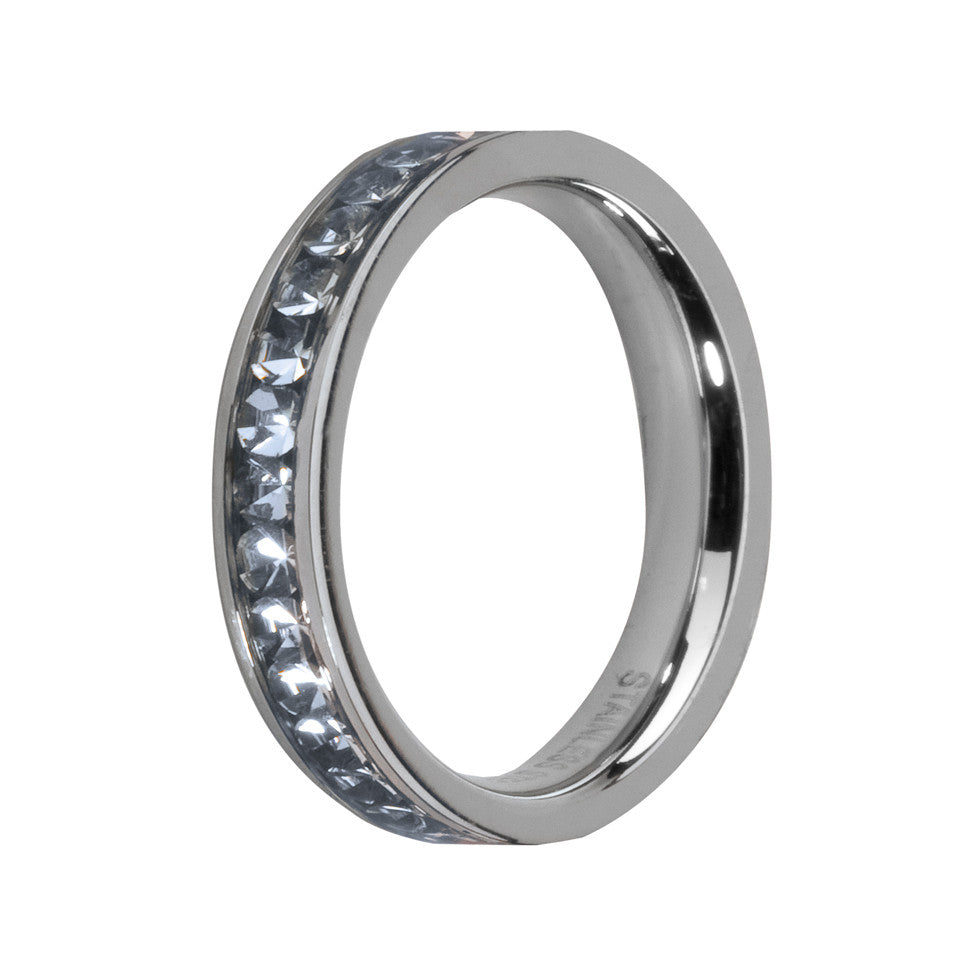 MelanO aqua/stainless steel lined jewel ring - Ellimonelli