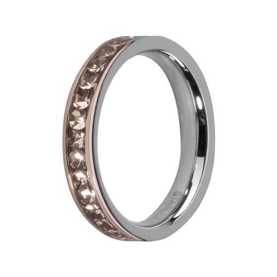 MelanO crystal/stainless steel lined jewel ring - Ellimonelli