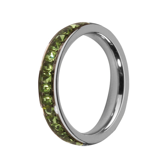 MelanO peridot/stainless steel lined jewel ring - Ellimonelli
