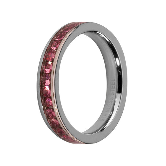 MelanO rose/stainless steel lined jewel ring - Ellimonelli