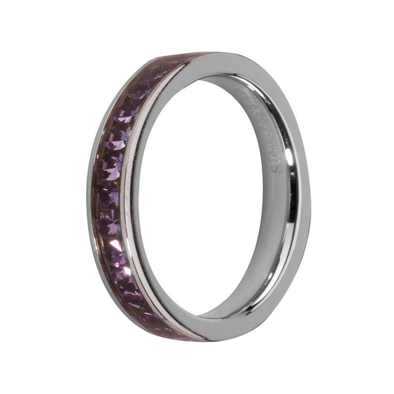 MelanO tanzanite/stainless steel lined jewel ring - Ellimonelli