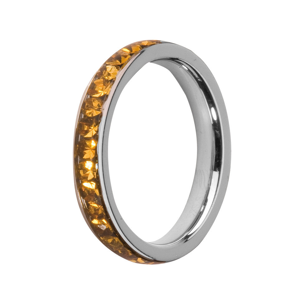 MelanO topaz/stainless steel lined jewel ring - Ellimonelli