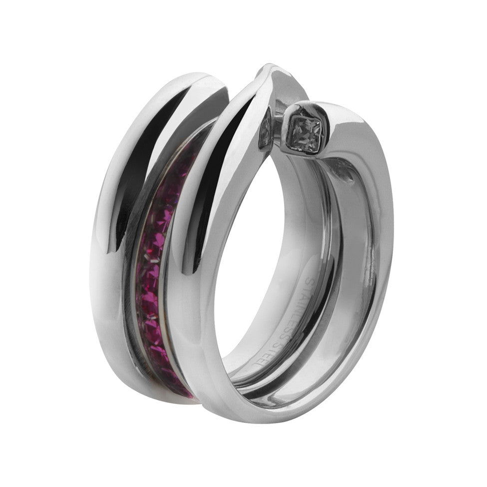 MelanO 925 sterling silver plain double loop side ring - Ellimonelli