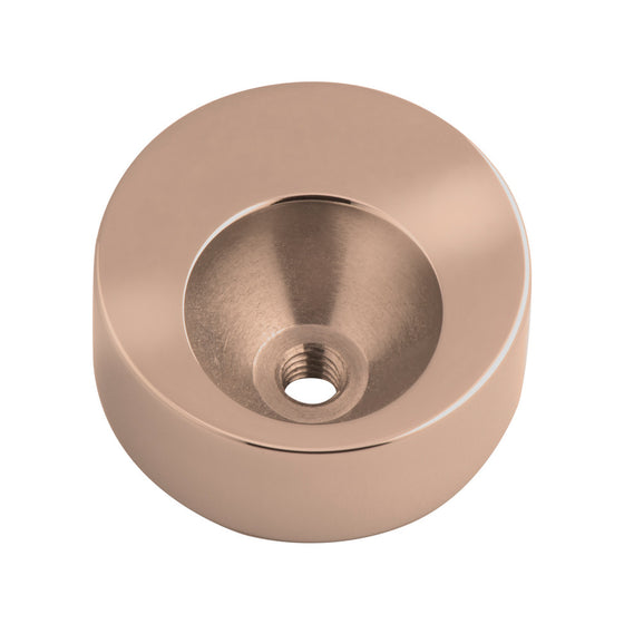 MelanO rose gold 14mm plain round pendant - Ellimonelli