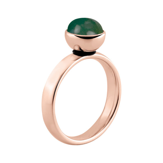 MelanO rose gold bevelled ring - Ellimonelli