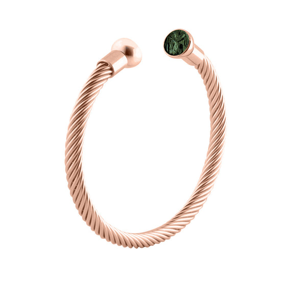 MelanO rose gold rope bangle - Ellimonelli