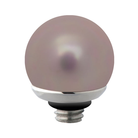 MelanO grey blue/ss interchangeable 7mm pearl gem - Ellimonelli