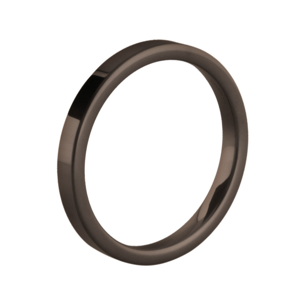MelanO chocolate flat ceramic ring - Ellimonelli