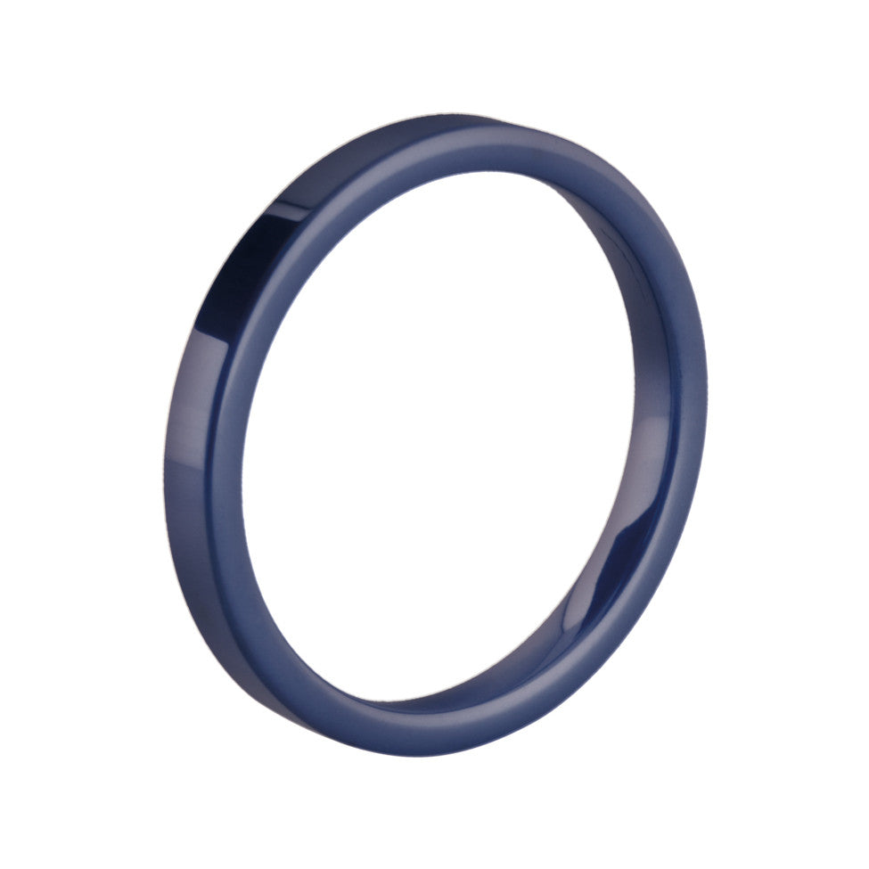 MelanO blue flat ceramic ring - Ellimonelli