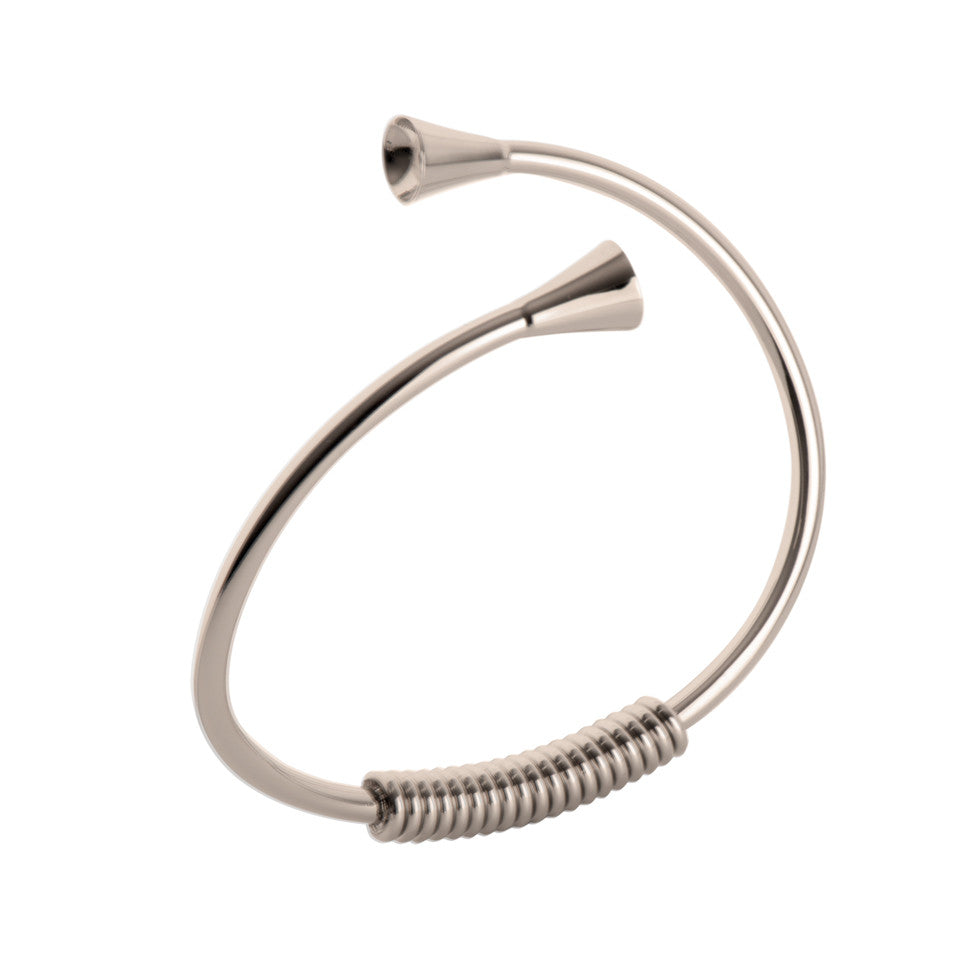 MelanO stainless steel plain twist bangle - Ellimonelli