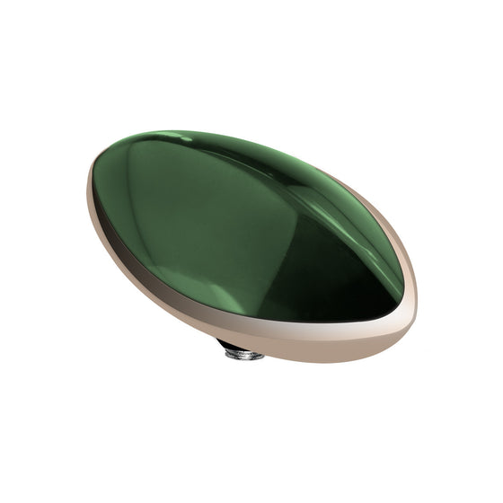 MelanO olive/rg interchangeable 14mm marquise gem - Ellimonelli