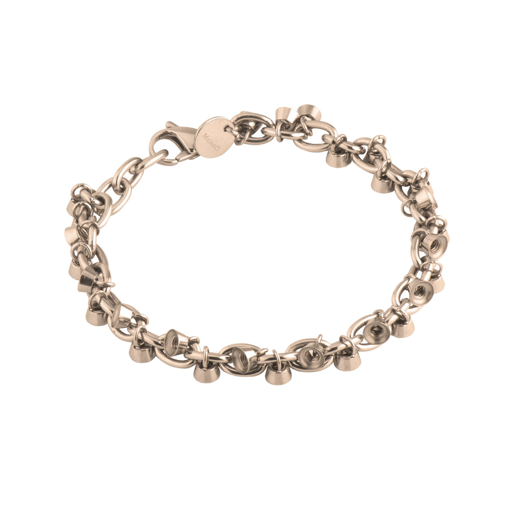 MelanO rose gold collector 26 charm bracelet - Ellimonelli