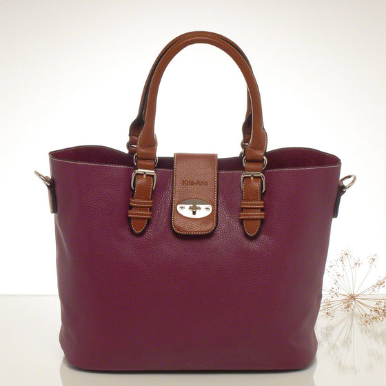 Kris-ana wine hand or shoulder tote with matching clutch set