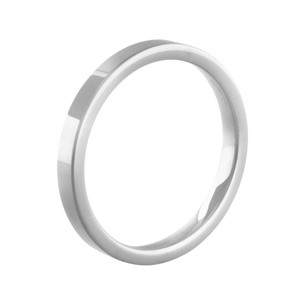 MelanO white flat ceramic ring - Ellimonelli