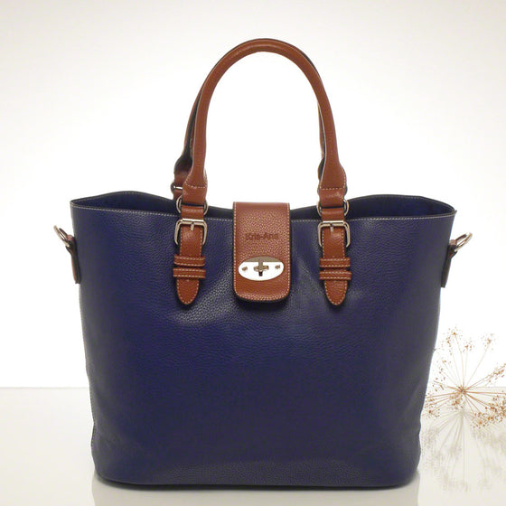 Kris-ana blue hand or shoulder tote with matching clutch set