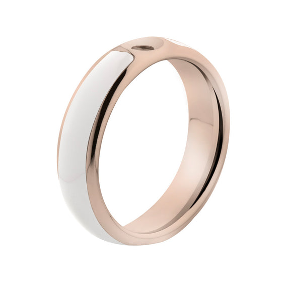 MelanO white/rose gold lined resin ring - Ellimonelli