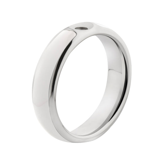 MelanO white/stainless steel lined resin ring - Ellimonelli