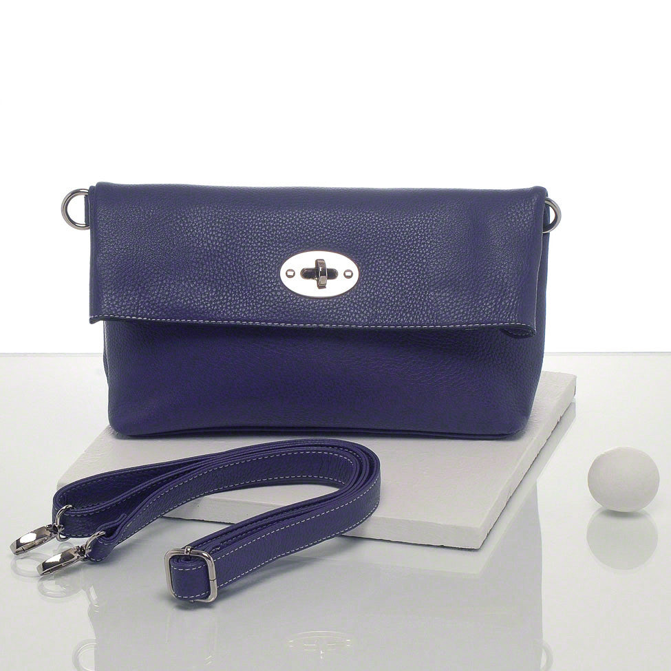 Kris-ana blue hand or shoulder clutch complete with tote