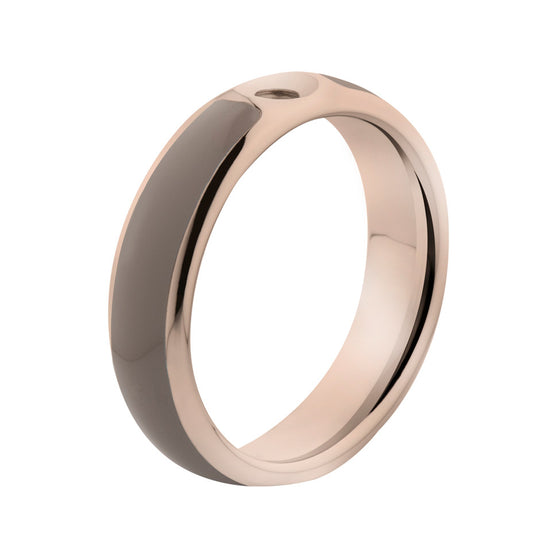 MelanO taupe/rose gold lined resin ring - Ellimonelli