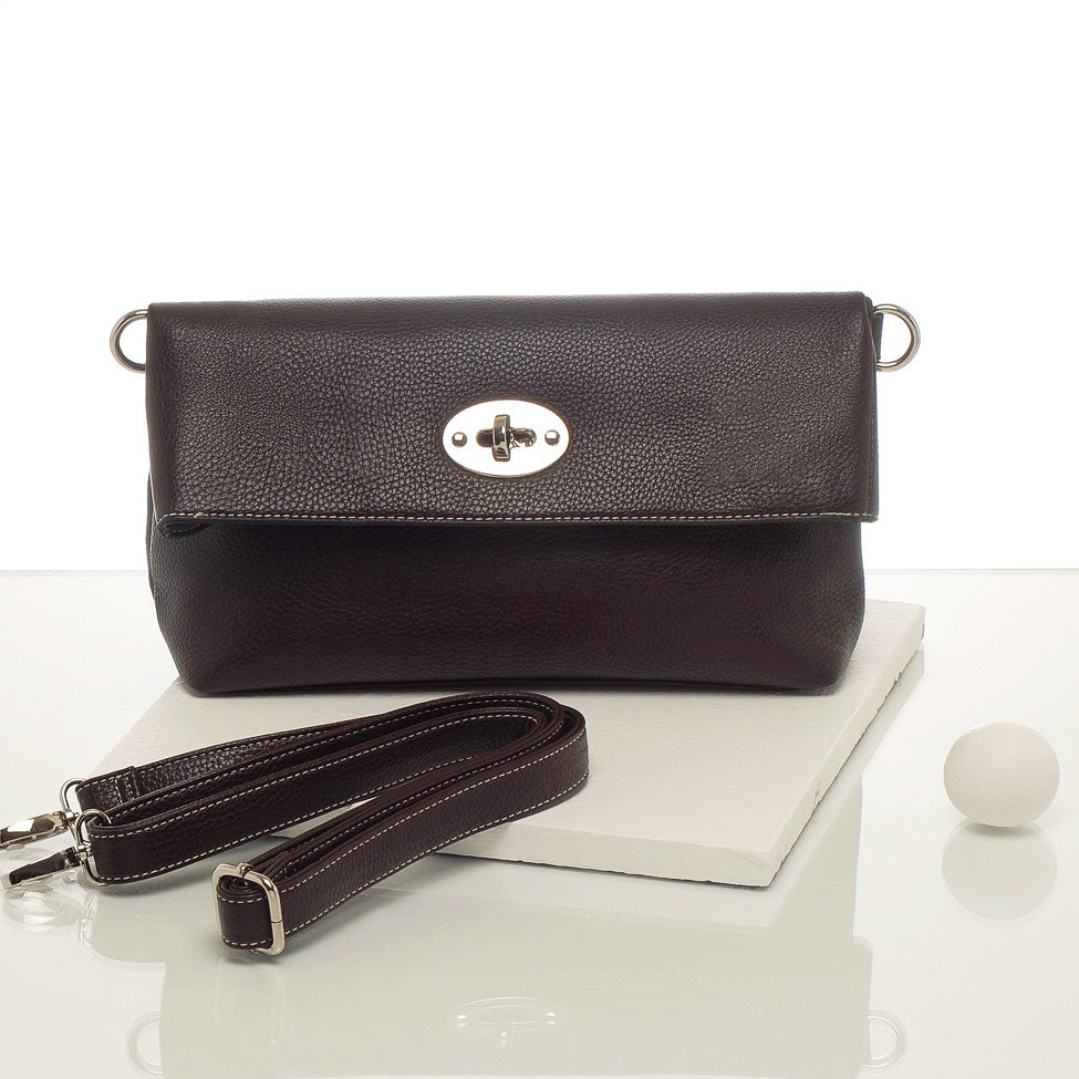 Kris-ana coffee hand or shoulder clutch complete with tote