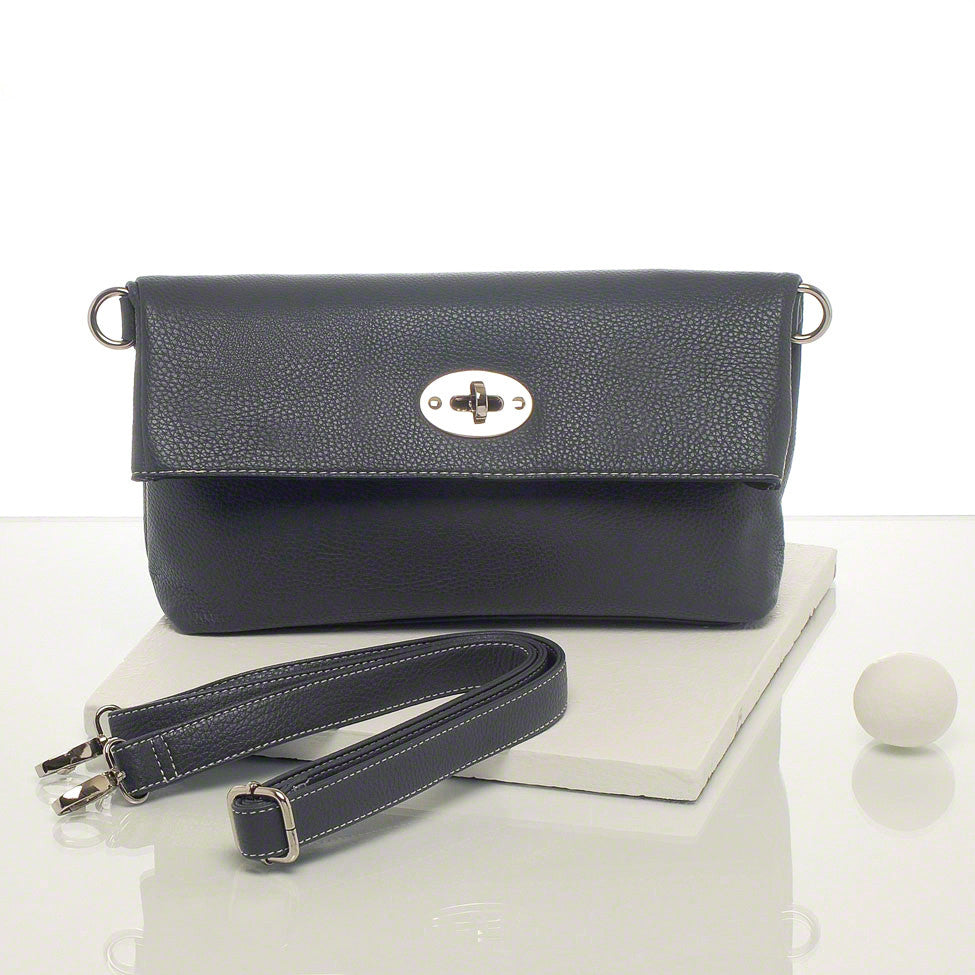 Kris-ana grey hand or shoulder clutch complete with tote