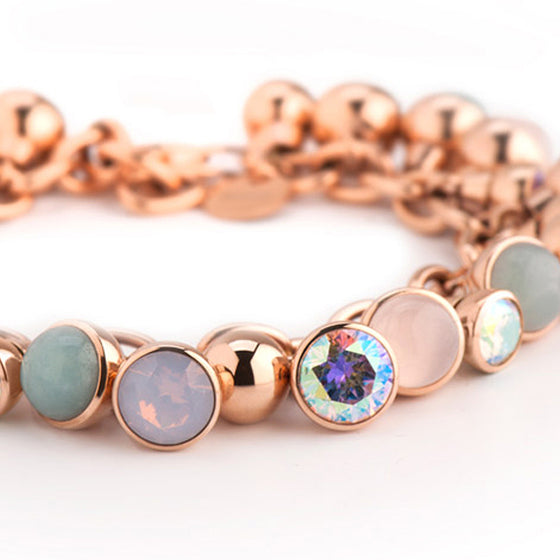 MelanO rose gold 26 collector charm bracelet - Ellimonelli
