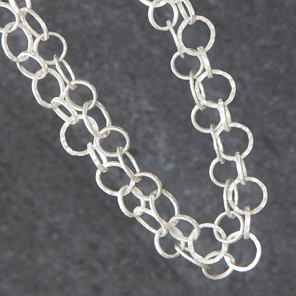 Tutt antique silver finish 2-strand chain necklace - Ellimonelli