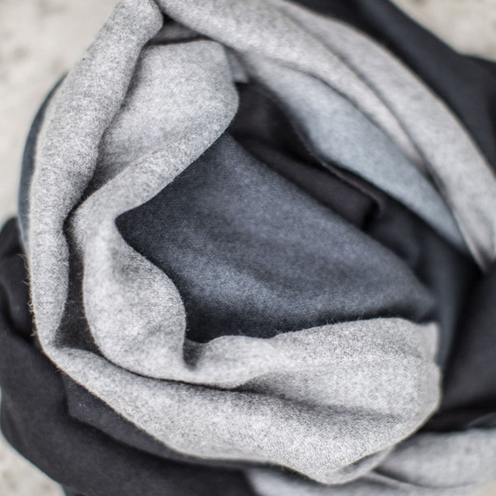 Tutti luxurious graduated charcoal/light grey tonal wrap - Ellimonelli