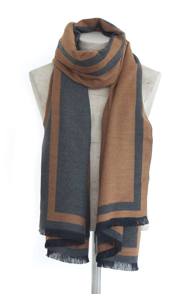 Tutti Luxurious Wrap – Grey/Tan