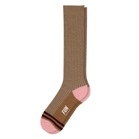 Women's Knee High-Medium Beige