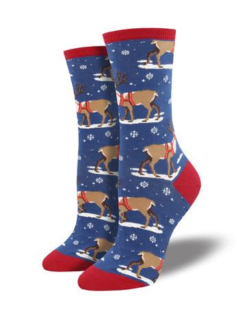 Women's Winter Reindeer - Blue