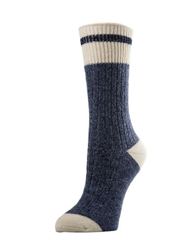 Men's Wool Work Socks - Denim Heather