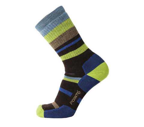 Hiking Medium Mixed Stripe - Teal