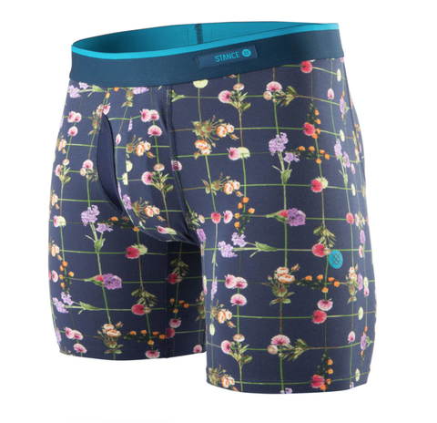 Flower Grid Boxer Briefs