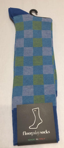 Checkered-Blue/Green