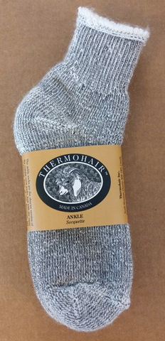Men's Ankle Sock Thermohair Grey-Large