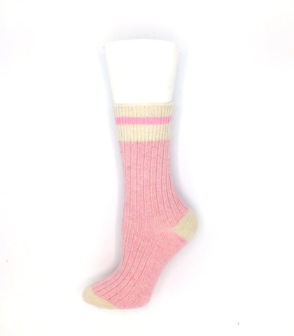 Women's Wool Work Sock - Pink Heather