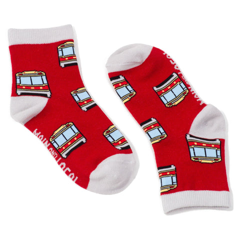 Children's Toronto Streetcar Socks