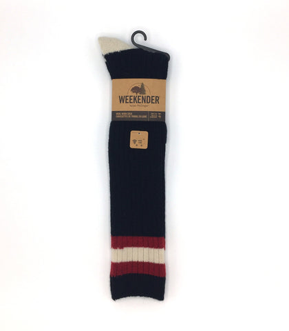 Knee High Wool Work Sock - Black