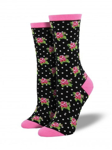 Women's Romantic Roses - Black